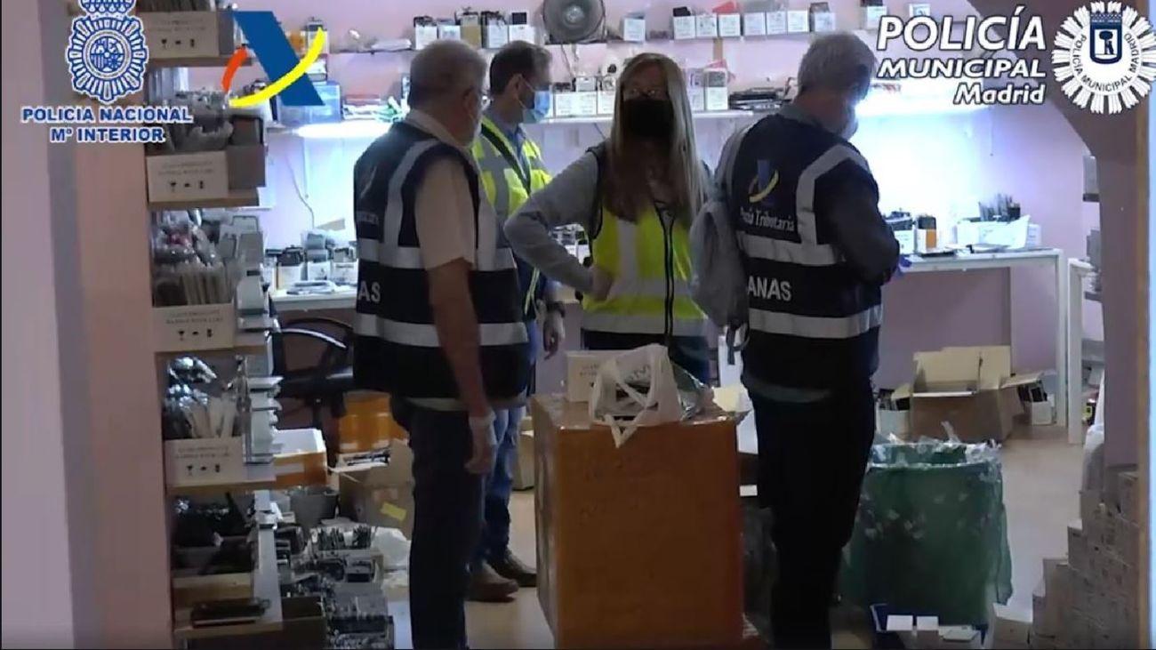 Operación conjunta de las policías Nacional y Municipal