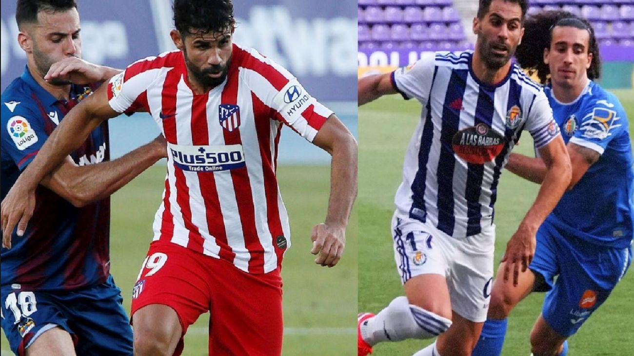 Levante-Atlético de Madrid y Valladolid-Getafe