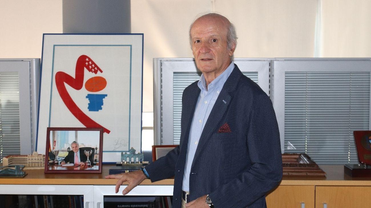Santos Moraga, presidente de la Federación de Baloncesto de Madrid
