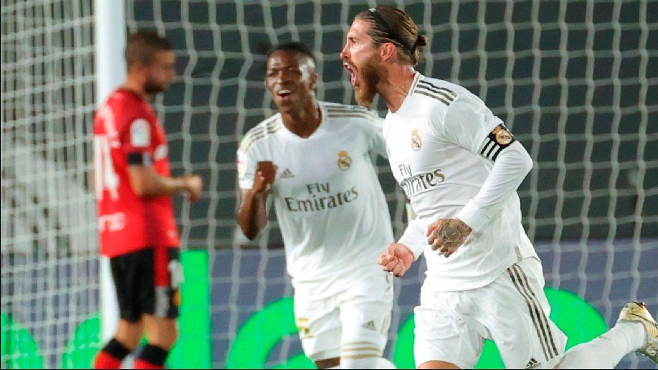 Sergio Ramos y Vinícus ante el Mallorca