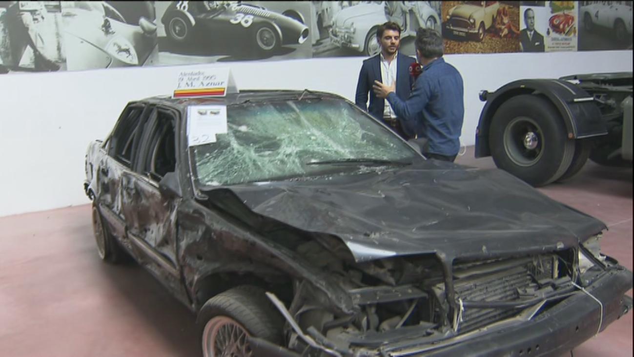 Sale a subasta el coche blindado en el que Aznar salvó la vida tras sufrir el atentado de ETA