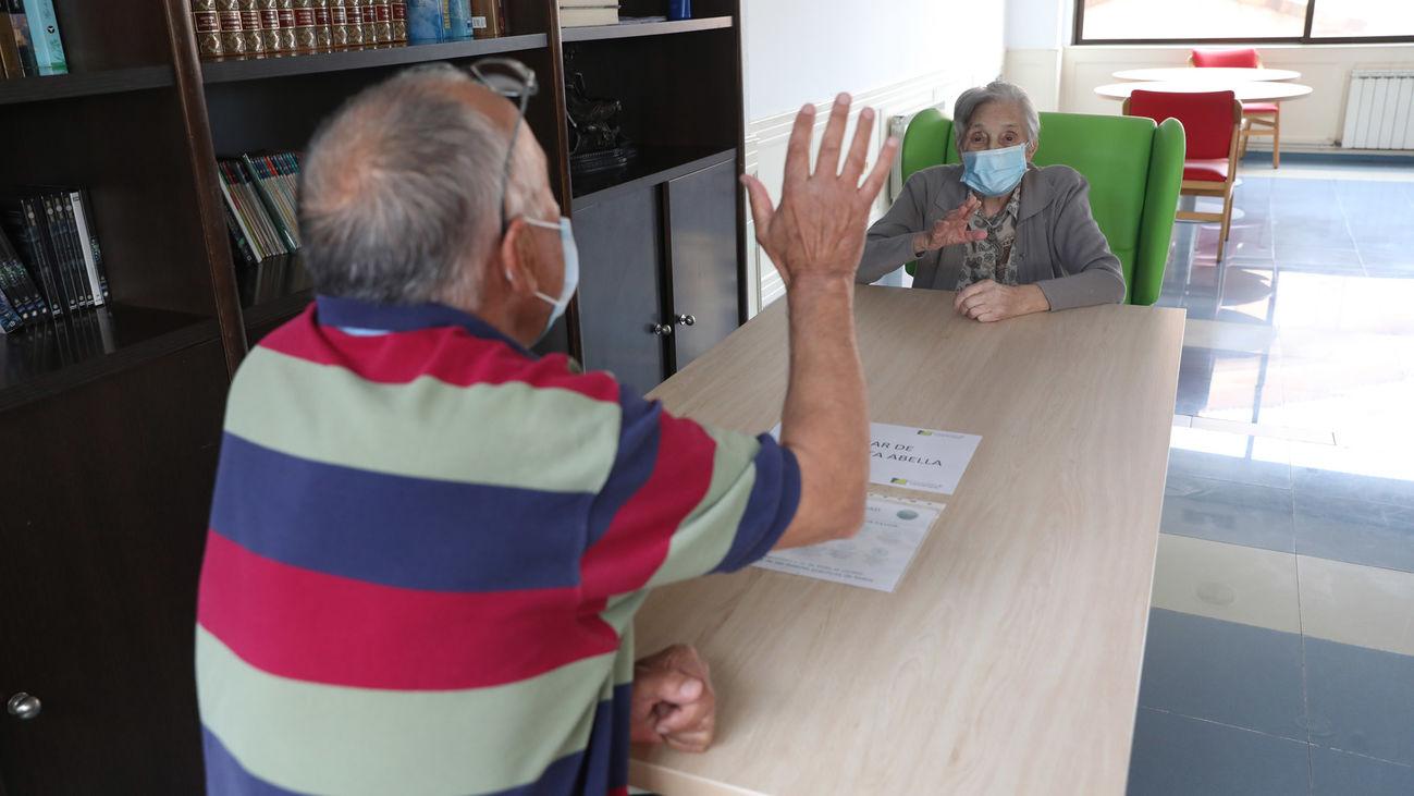 Distancia en las visitas a las residencias de ancianos de la Comunidad de Madrid