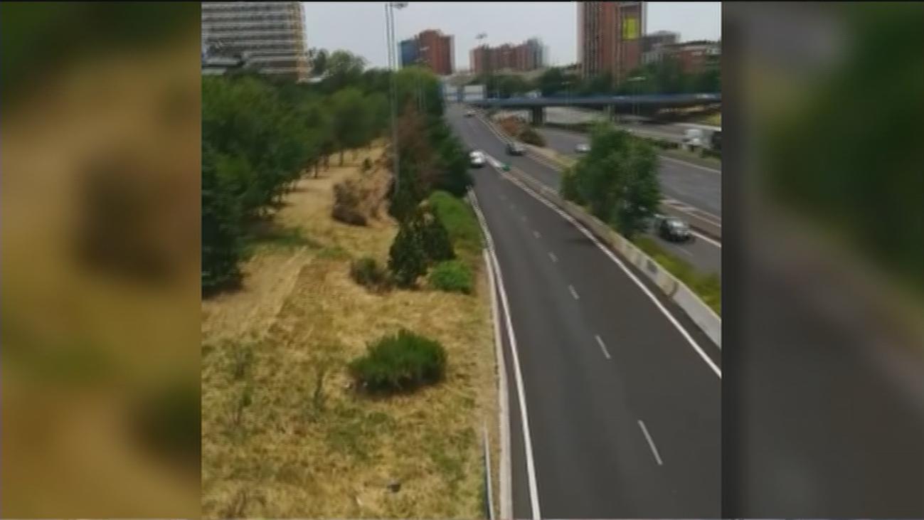 Los vecinos de Ciudad Lineal piden una valla con la M-30 que evite posibles accidentes