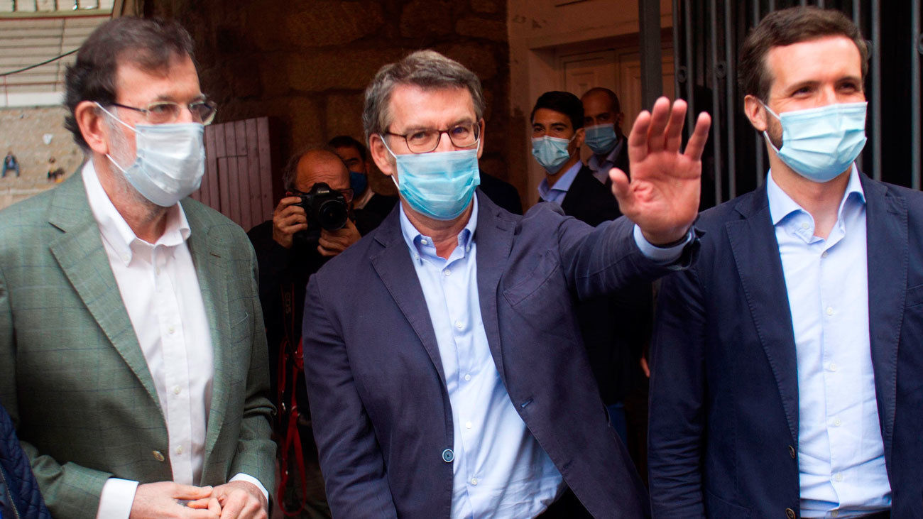 Rajoy y Casado arropan a Feijoó en Galicia