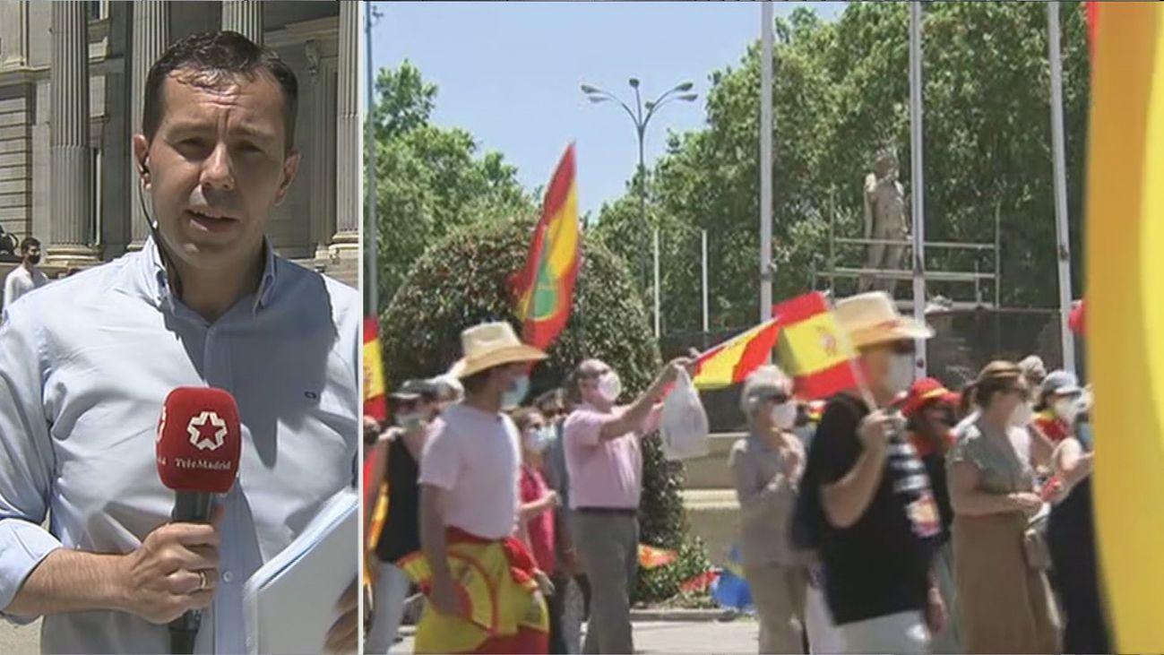 La protesta de Núñez de Balboa reclama en una marcha la dimisión del Gobierno