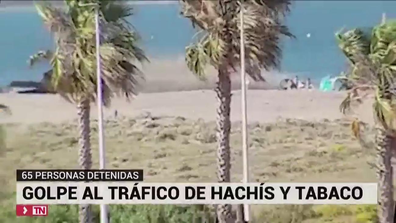 65 detenidos en una operación contra el tráfico de tabaco en el campo de Gibraltar