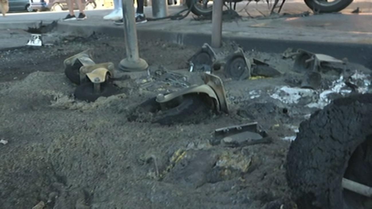 Denuncian las constantes quemas de contenedores, en Las Águilas