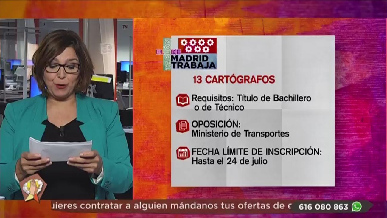 Se buscan topógrafos, cartógrafos y personal para de restaurante en Madrid