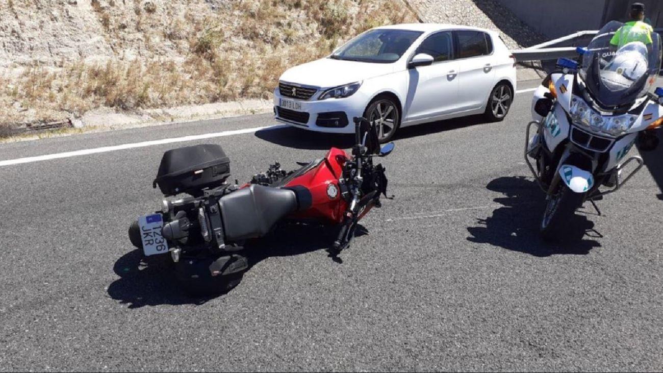 Accidente de Moto en la M-501