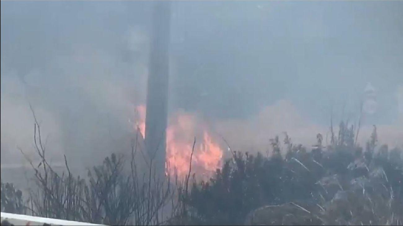 Incendio en Vallecas