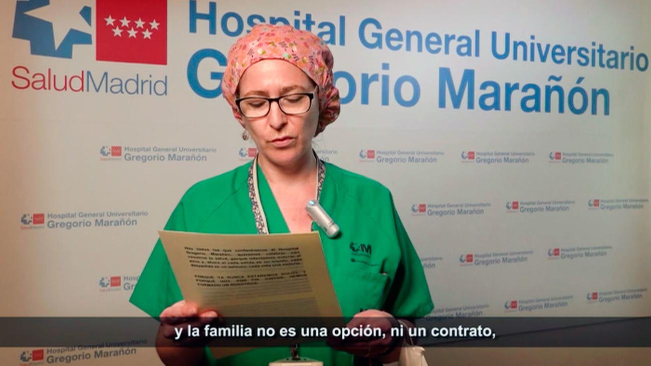 """La emotiva carta del Gregorio Marañón a sus pacientes de covid: """"El miedo a perderos nos ha hecho temblar"""""""