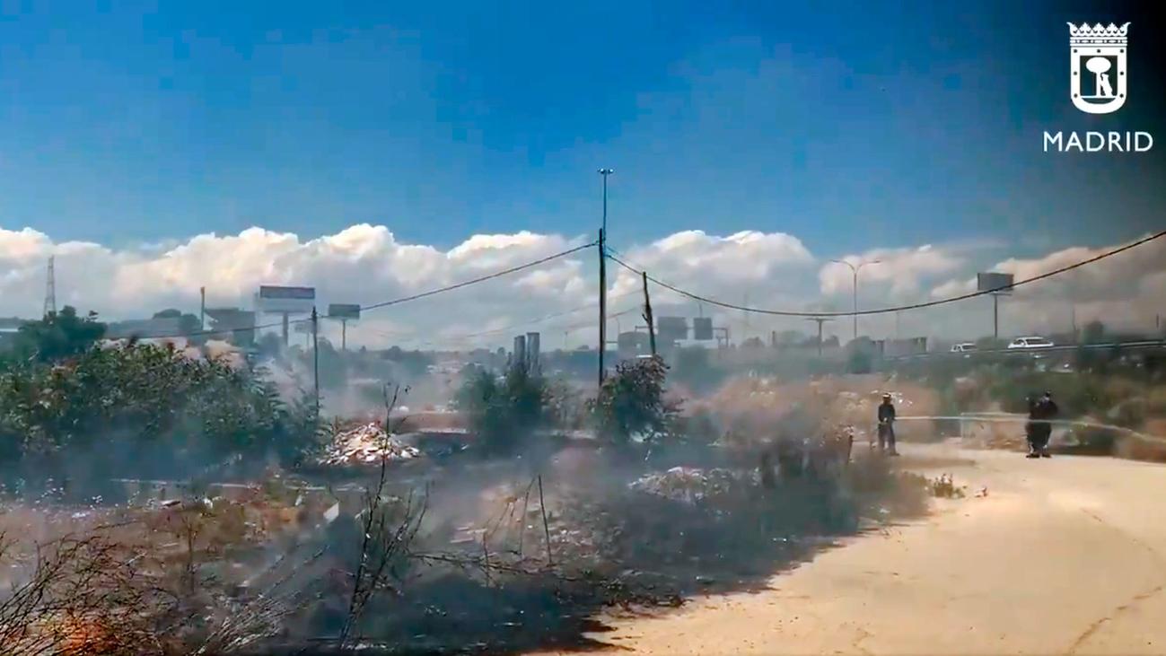 Dos incendios en Moratalaz y El Gallinero por las altas temperaturas