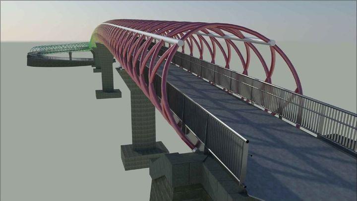 Una pasarela peatonal sobre las vías del tren conectará los barrios de Butarque y San Cristóbal de los Ángeles