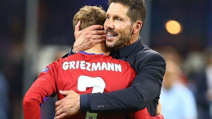 """Simeone opina sobre Griezmann: """"Tres minutos es la vida"""""""
