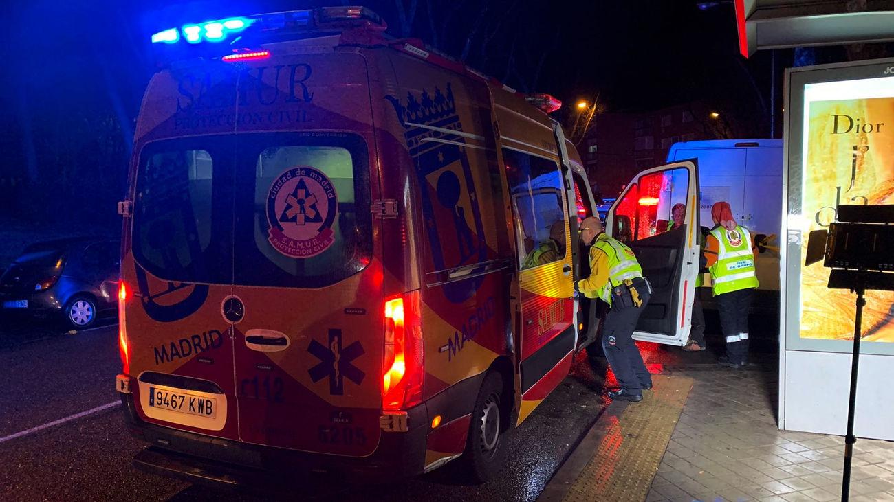 Un equipo de SAMUR Protección Civil durante un servicio