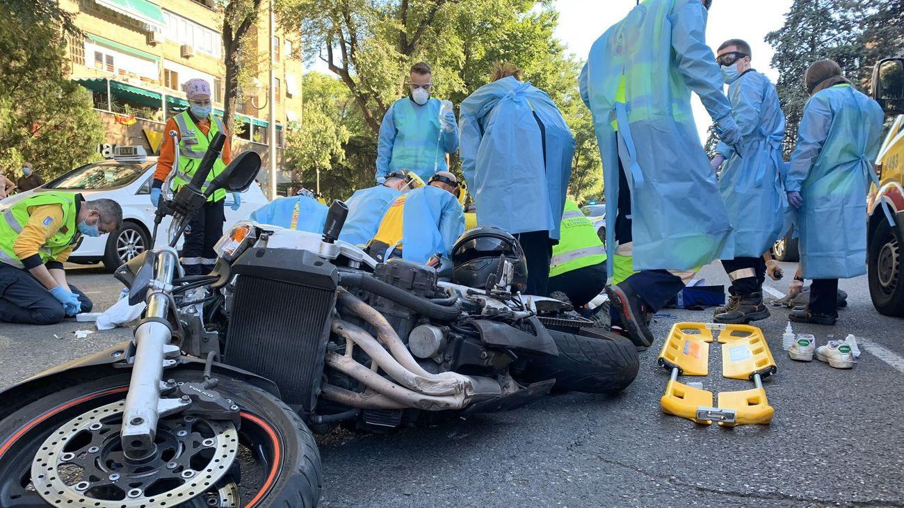 Accidente de moto en Doctor Esquerdo