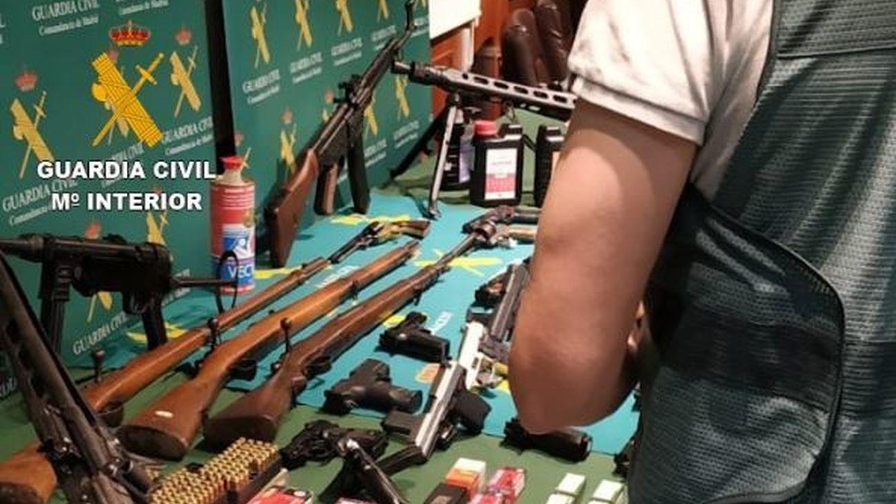 Armas de fuego intervenidas en la operación 'Botxo'