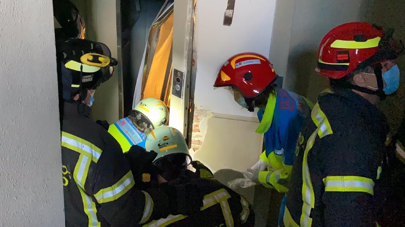 Accidente laboral en Carabanchel