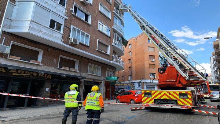 Quince heridos, dos graves, en un incendio en un edificio de Chamartín