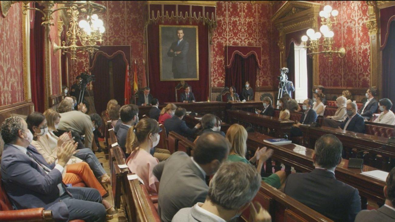 Pleno en el Ayuntamiento de Madrid para aprobar los Acuerdos de la Villa
