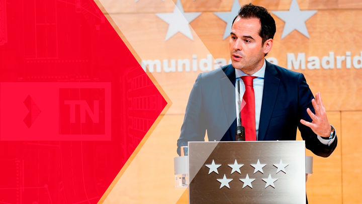 Entrevista a Ignacio Aguado, este martes en el Telenoticias 2 de Telemadrid