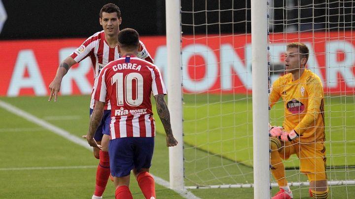 1-1. Un gol de Morata sostiene al Atlético ante el Celta