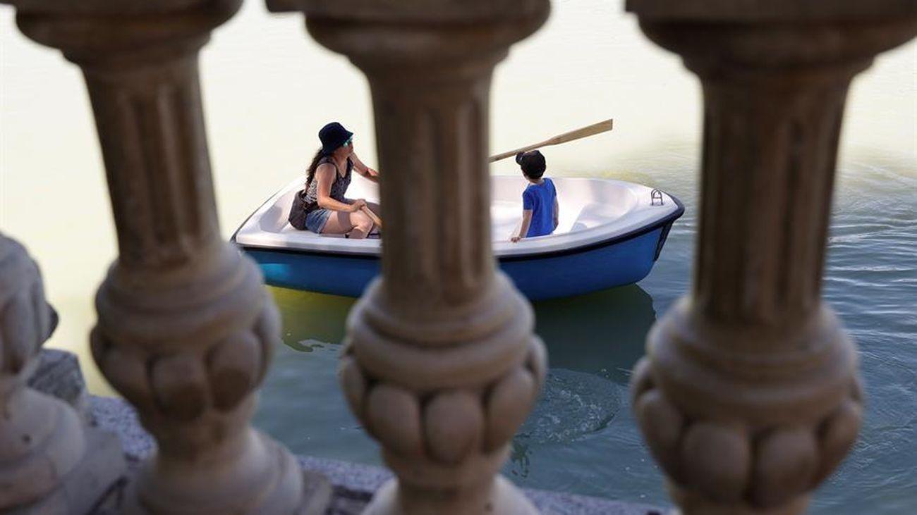 Barcas en el Retiro