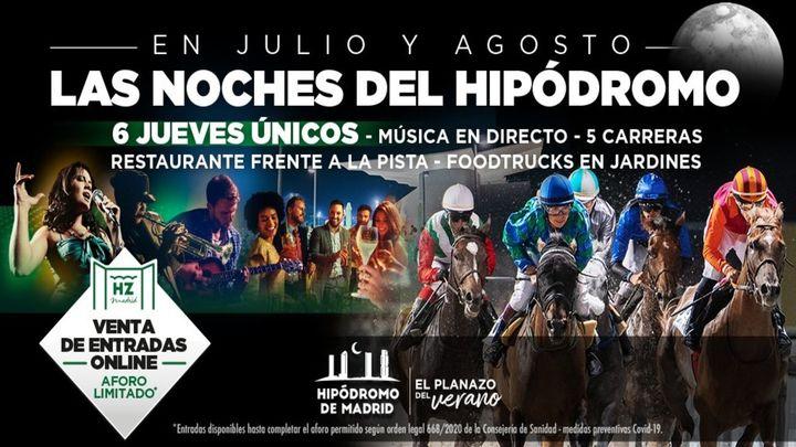 El Hipódromo de La Zarzuela inaugura el día 9 las noches de carreras, música y gastronomía