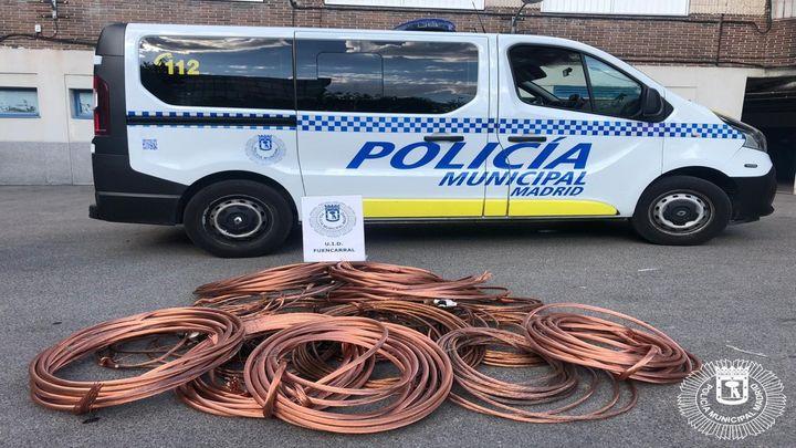 Dos detenidos en el distrito de Fuencarral por robar 200 kilos de cable de cobre