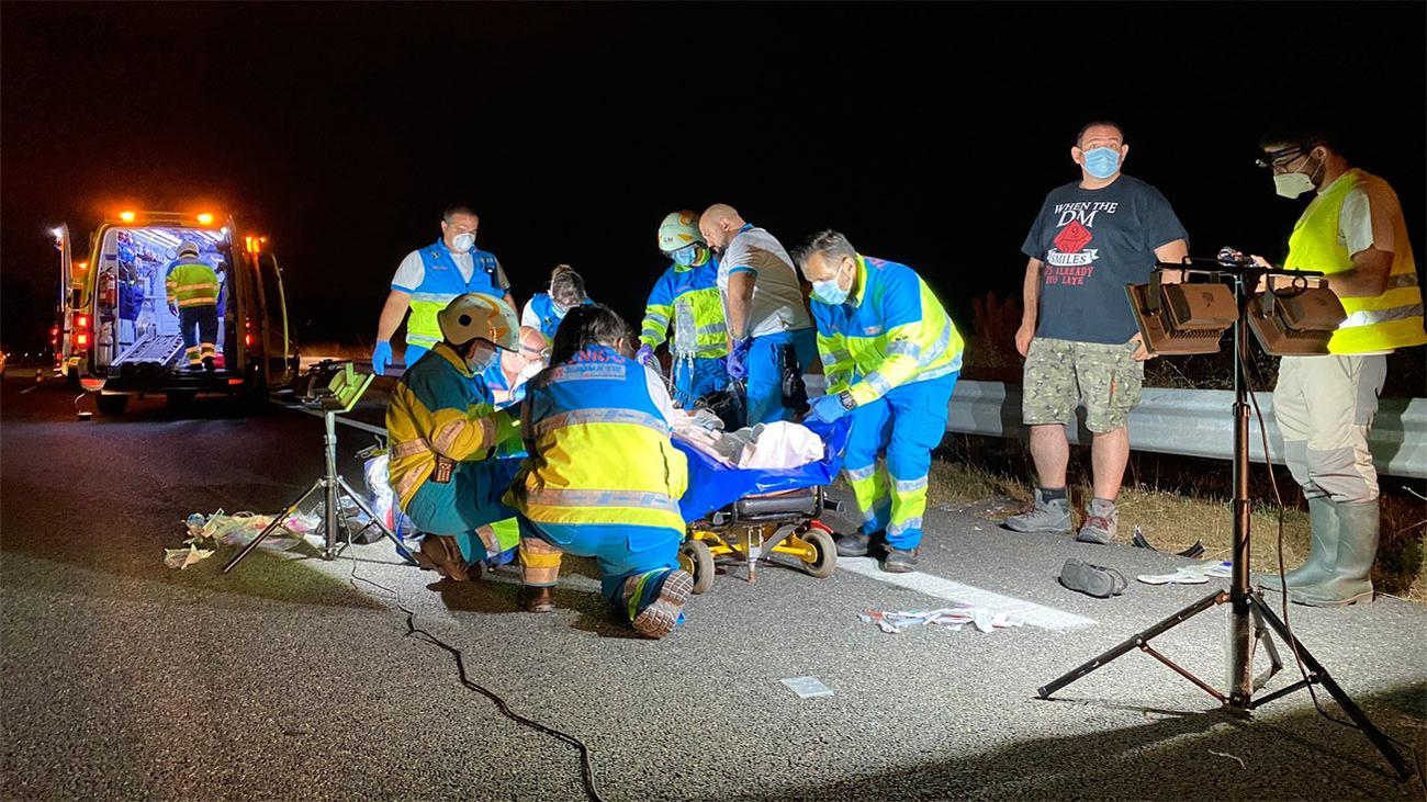 Herido grave un motorista tras una colisión con un turismo en Brunete