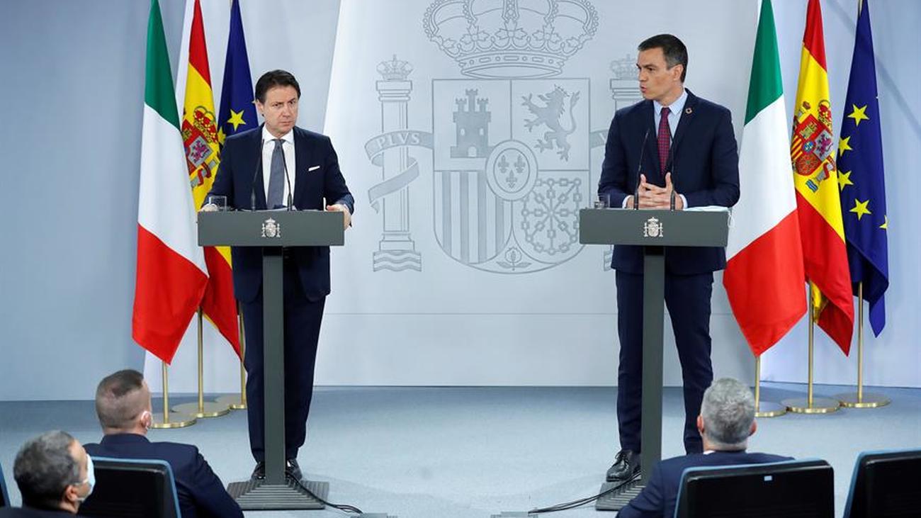 Sánchez refuerza su alianza con Conte en la UE, pero no aclara si quiere o no un pacto con el PP