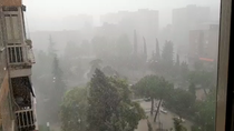 Diluvio, casi sin avisar, en Fuenlabrada
