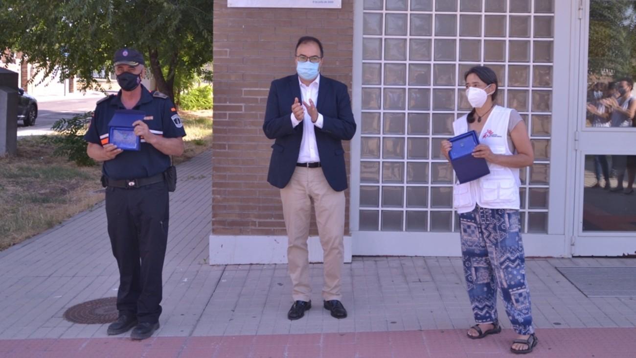 Homenaje a Médicos sin Fronteras en Leganés
