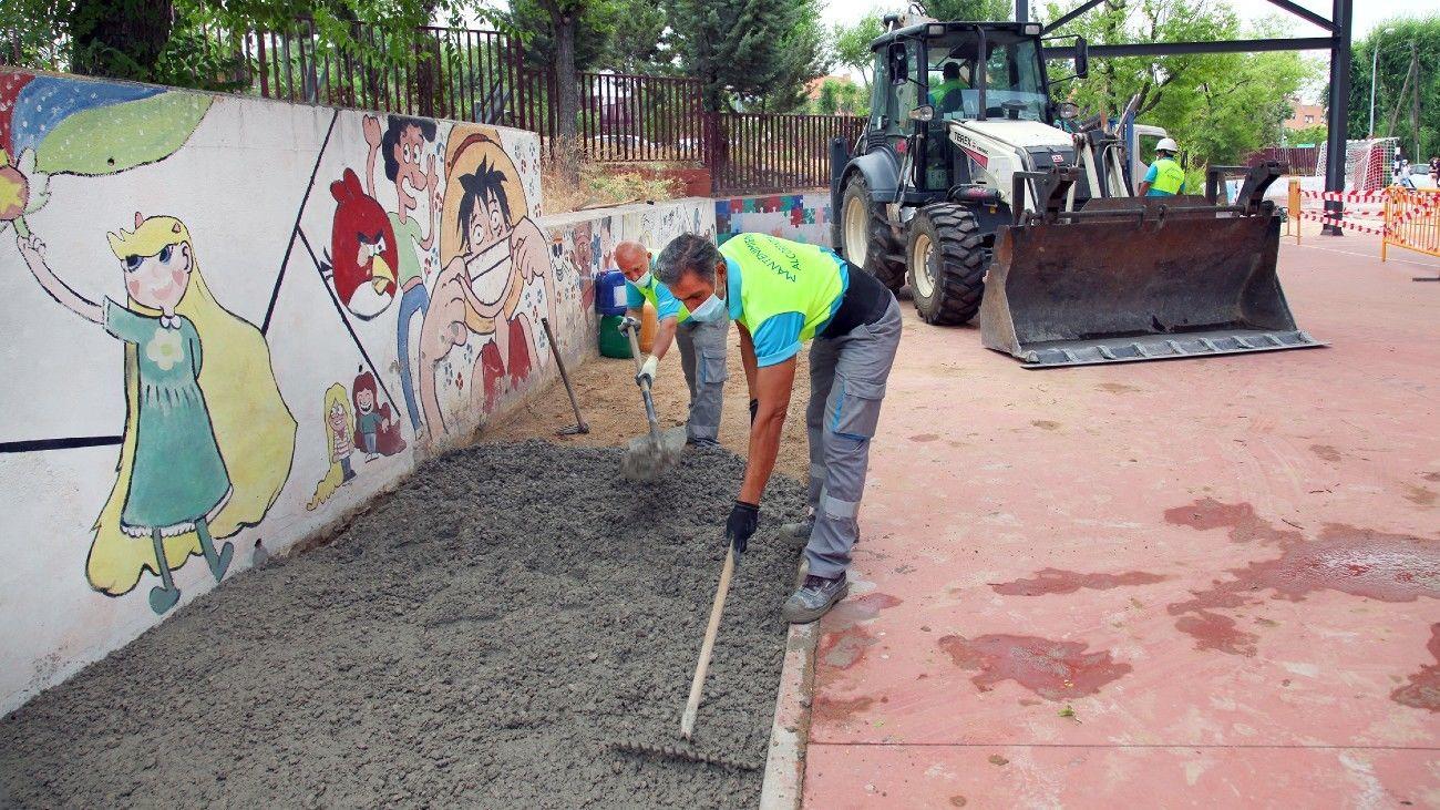 Obras en un colegio de Alcobendas