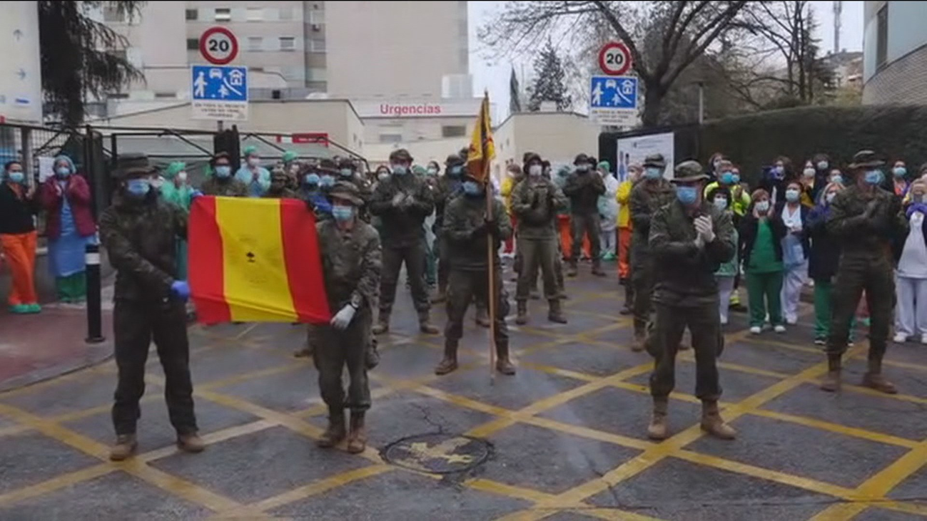 Militares en primera línea contra el Covid