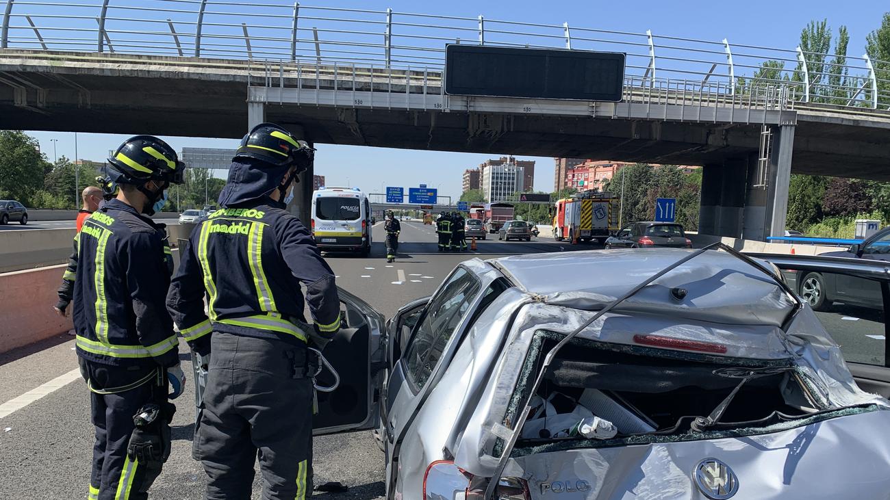 Un ejemplo en Madrid de lo que no hay que hacer ante un accidente de tráfico