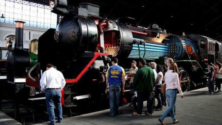 Máquinas de vapor y maquetas de modelismo, principales atracciones del Museo del Ferrocarril en el Día del Tren