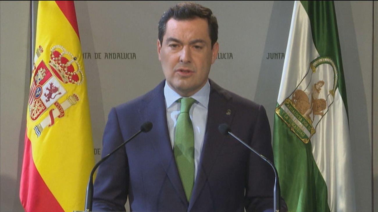 Juanma Moreno,presidente de la Junta de Andalucía