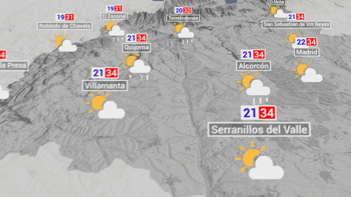 Alerta por tormentas con granizo y rachas de viento muy fuertes en la Comunidad de Madrid