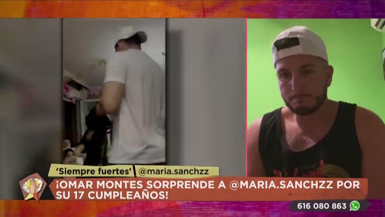 """La emotiva sorpresa de Omar Montes a María, la creadora de """"Siempre fuertes"""""""