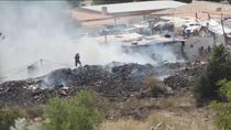 Incendio altamente tóxico en la Cañada Real