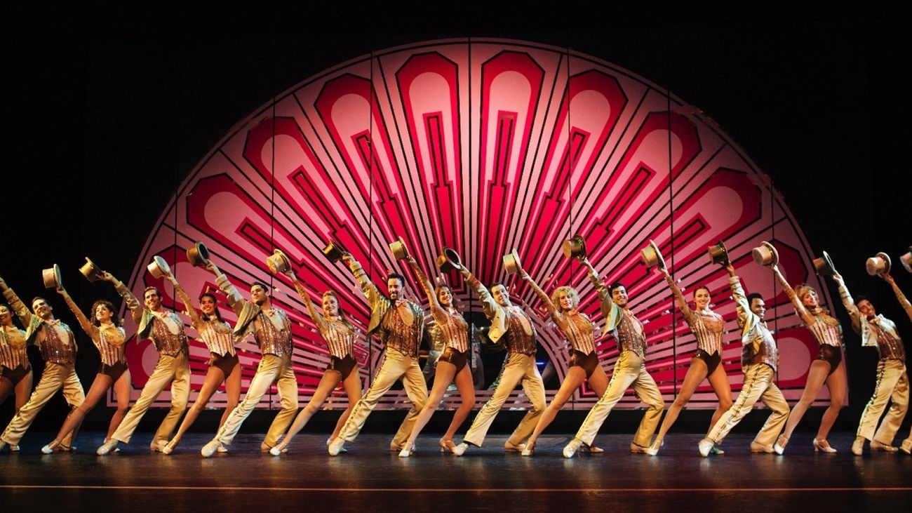 Una instantánea del espectáculo 'A chorus line', de Antonio Banderas