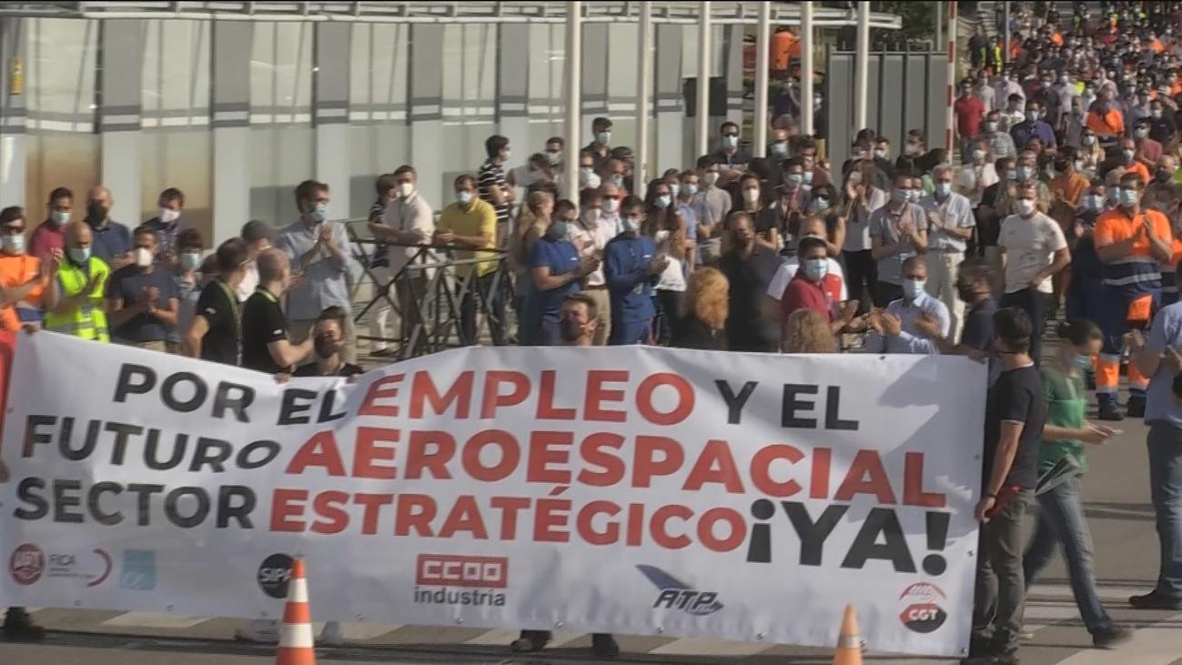 Trabajadores de Airbus de Getafe se movilizan contra los 1.600 despidos y piden protección al Gobierno