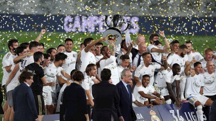 Las fotos de la Liga número 34 del Real Madrid