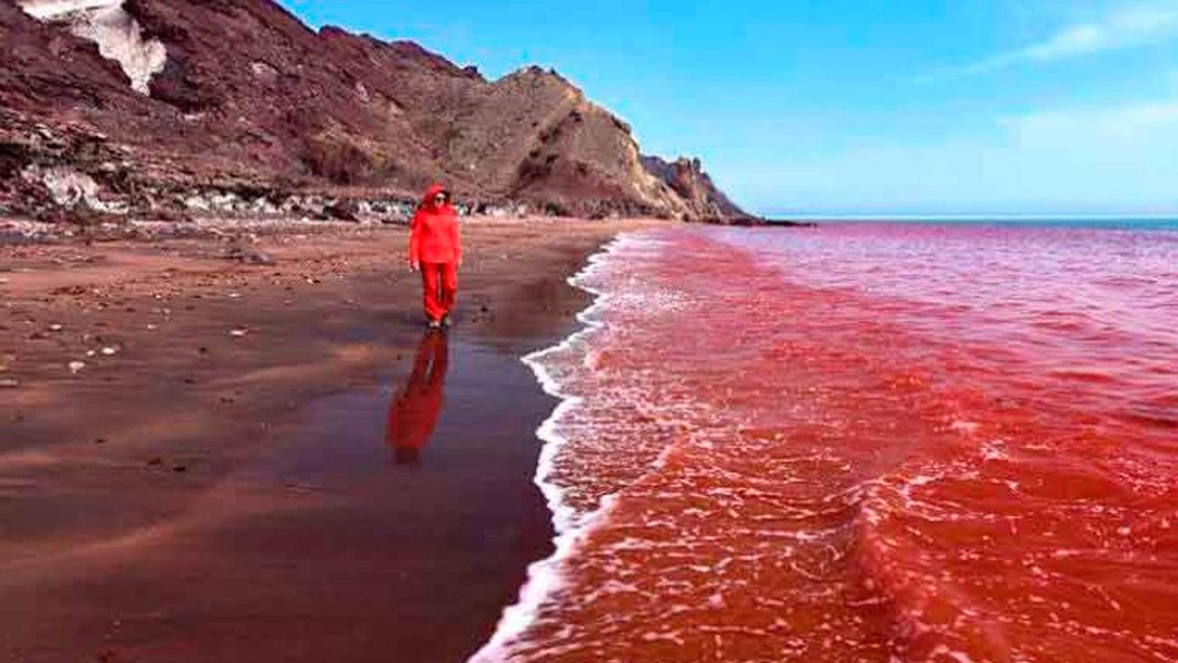 La isla de arena roja