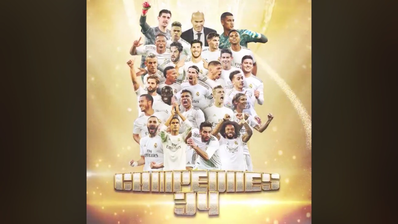 34 Ligas del Real Madrid
