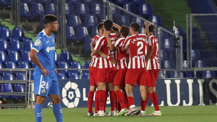 0-2. El Atlético complica el sueño europeo del Getafe