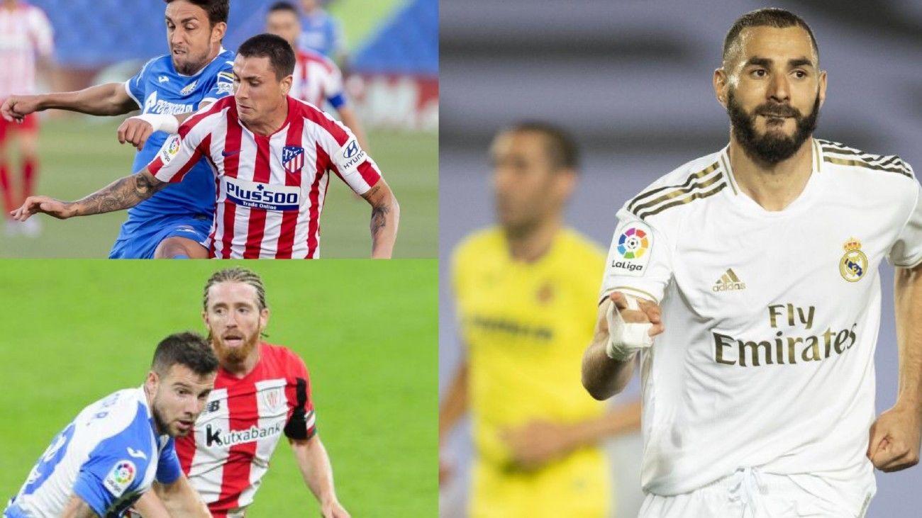 Real Madrid-Villarreal, Getafe-Atlético de Madrid y Athletic-Leganés