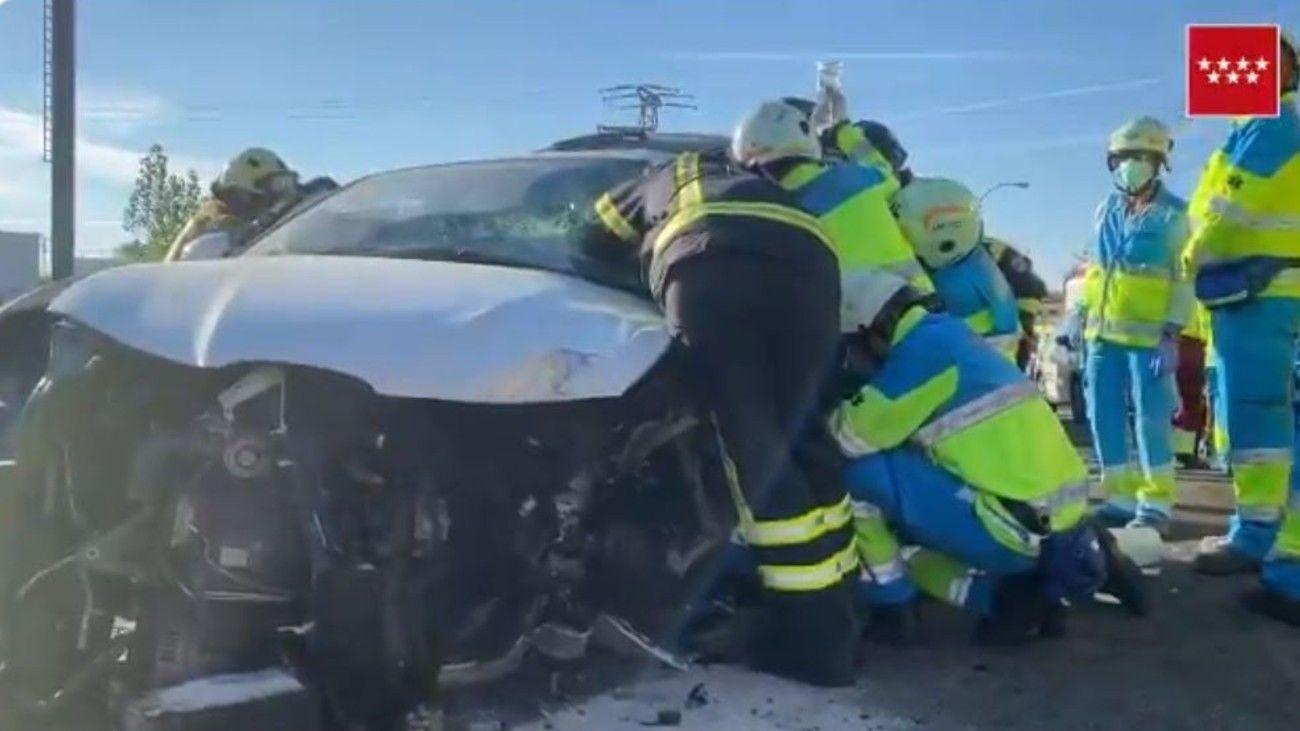 Accidente en la M-506