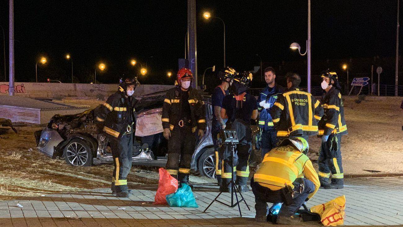 Accidente de tráfico en la calle Alcalá